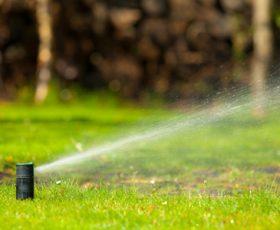 Irrigation turned on
