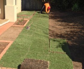 Focal Point working on a turf job